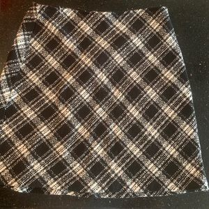 Black and White Plaid Skirt